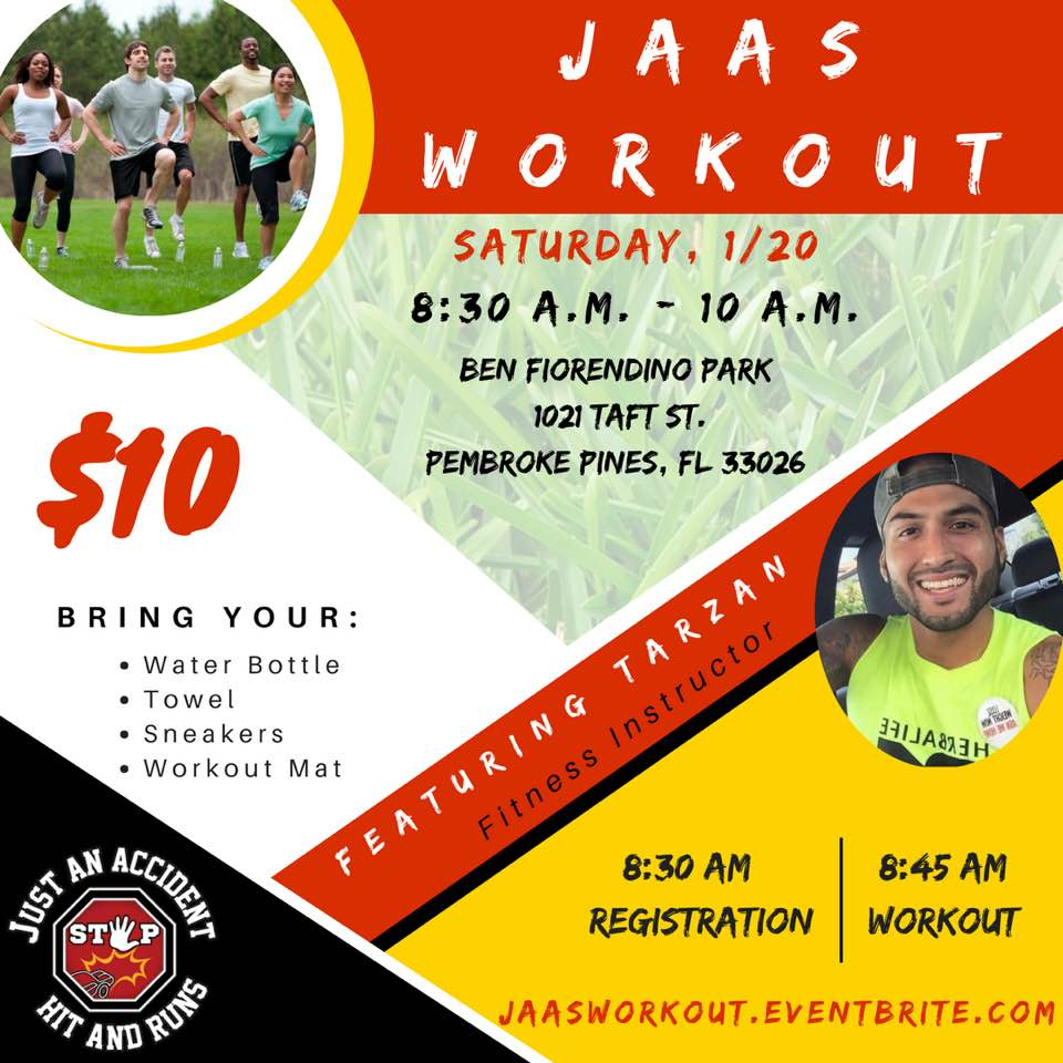 Bring your family and friends as we get healthy, fit, and stay safe during the new year. Workouts are only $10, please show your support, and we hope to see you there!□ JAASWORKOUT.EVENTBRITE.COM #GetJAASedUp
